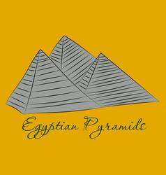 Pyramids in the desert vector