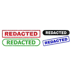 Redacted rectangle stamps with unclean style vector