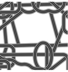 road and highway elements for city map creation vector image