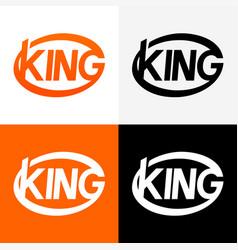 Round modern logo of king vector