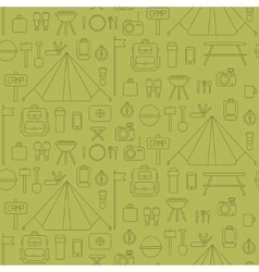Seamless pattern of flat colorful camping vector image