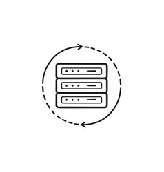 server reload hand drawn outline doodle icon vector image