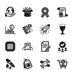 Set business icons such as coupons beer glass vector