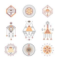 set sacred geometry vector image