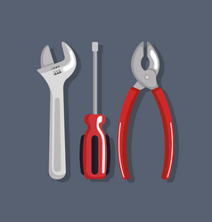 set tools elements work labor day symbol vector image
