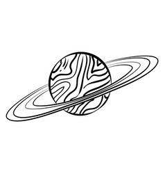 sketch saturn icon vector image