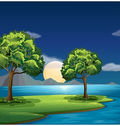 The blue and green colors of nature vector
