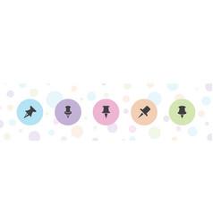 Thumbtack icons vector