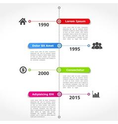 Timeline Design Template vector