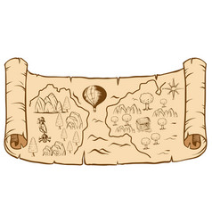 treasure map on brown paper vector image