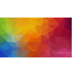 Triangle background with oblique lines vector