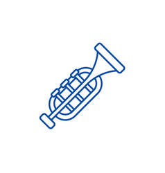 trumpethorn line icon concept trumpethorn flat vector image