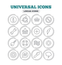 Universal icon Information shopping and shower vector