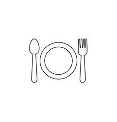 utensil icon graphic design template vector image