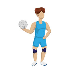 voleyball player cartoon vector image
