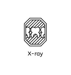 X-rays tooth outline vector