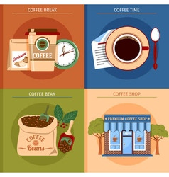 Coffee Concept Set vector image vector image