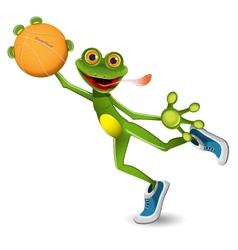 frog basketball vector image vector image