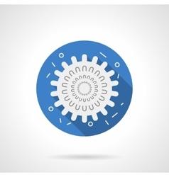 Influenza icon blue round flat icon vector image vector image