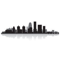 Louisville USA city skyline silhouette vector image vector image