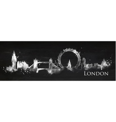 Silhouette chalk London vector image