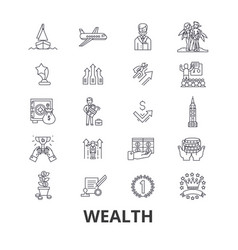 wealth banking money rich luxury success vector image vector image