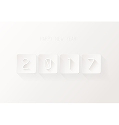2017 New Year on very light background vector image