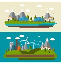 Ecology Banner Set vector image vector image