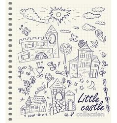Little castles vector image