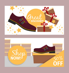 men summer dark red shoe flyer vector image