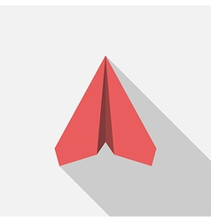 Red paper plane vector