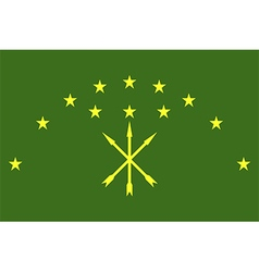 Flag of adygea vector image