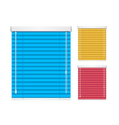 realistic color window jalousie roller shutters vector image vector image