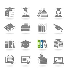 School an icon vector image