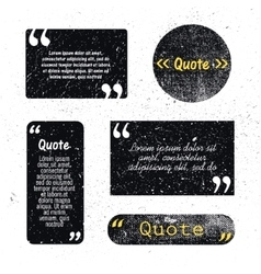 set of grunge textured quote bubbles space vector image