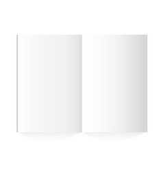 blank magazine spread on white background vector image vector image