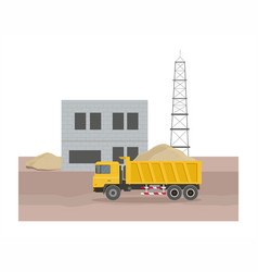 building factory industry zone vector image vector image