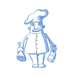 butcher with a knife vector image