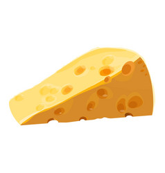 swiss cheese piece with large holes vector image vector image