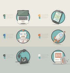 Technology Concept icons for business company vector image vector image