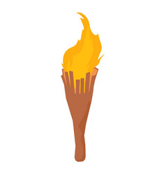 torch icon isometric style vector image