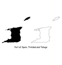 1181 port spain trinidad and tobago vector image