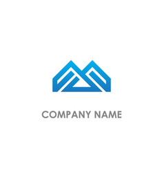 Abstract m initial geometry company logo vector