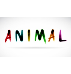 Animal character vector
