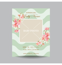 baarrival card with photo frame vector image