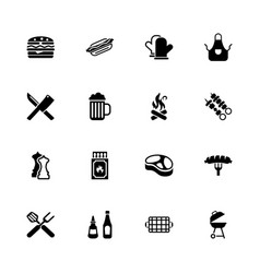 barbecue - flat icons vector image