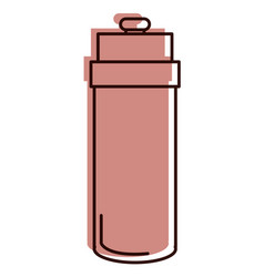 bottle gym isolated icon vector image
