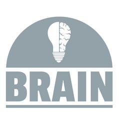 brain idea logo simple gray style vector image