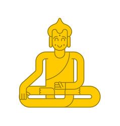 buddha golden statue meditation and enlightenment vector image