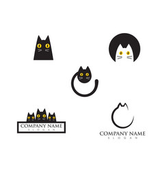 cat logo design vector image